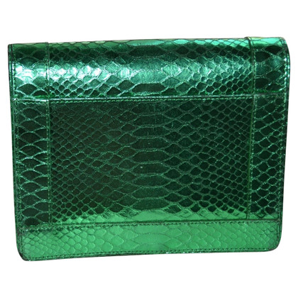 Dries van Noten Python leather clutch