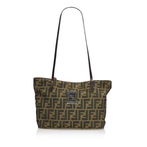 9c01e15167 Fendi Shoulder bag Canvas in Brown - Second Hand Fendi Shoulder bag ...