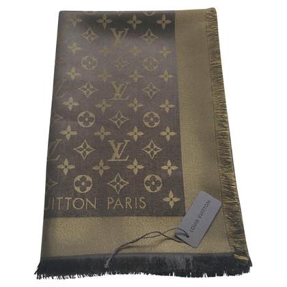 Louis Vuitton Tissu en service monogramme brun / or