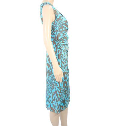 L.K. Bennett Silk dress with animal print