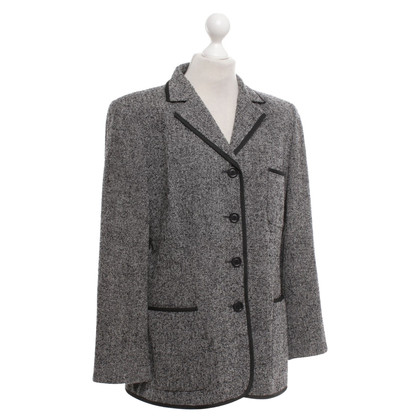 Akris Terry Blazer in Black / grey