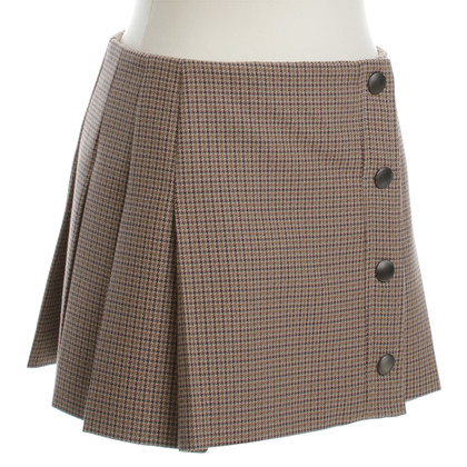 Miu Miu Pleated skirt with Houndstooth pattern