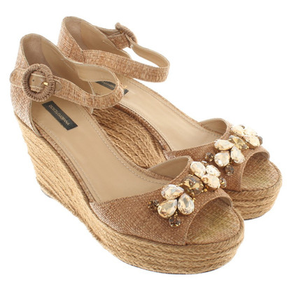 Dolce & Gabbana Wedge sandals with decorative application