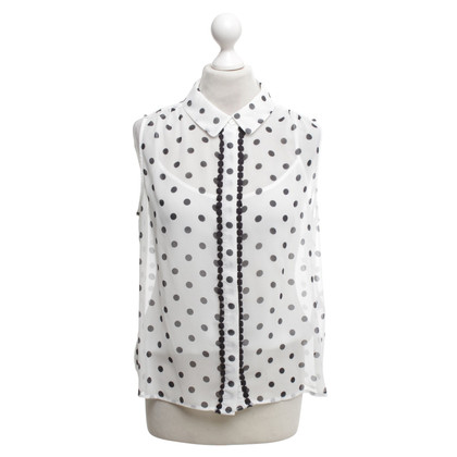 Hobbs Blouse in black and white