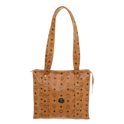 MCM Tote Bag with Logo Pattern