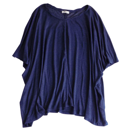 Acne Oversize Leinen-Bluse in Blau