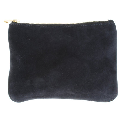 Balmain X H&M clutch made of smooth suede and suede
