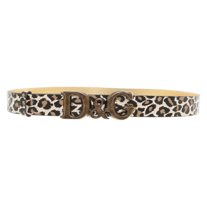 Dolce & Gabbana Belt with animal print