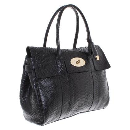"Mulberry ""Bayswater Bag"" made of python leather"