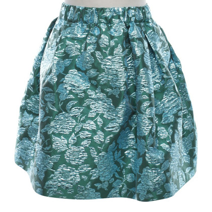 MSGM skirt with a floral pattern