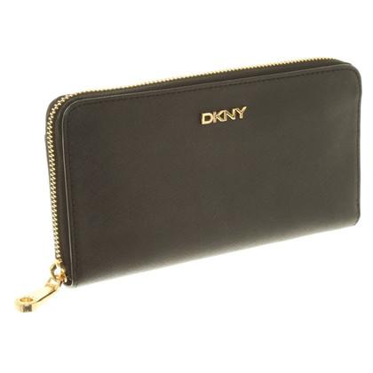 DKNY Portemonnaie aus Saffianoleder