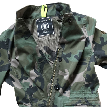 Blonde No8 Jacket with camouflage pattern