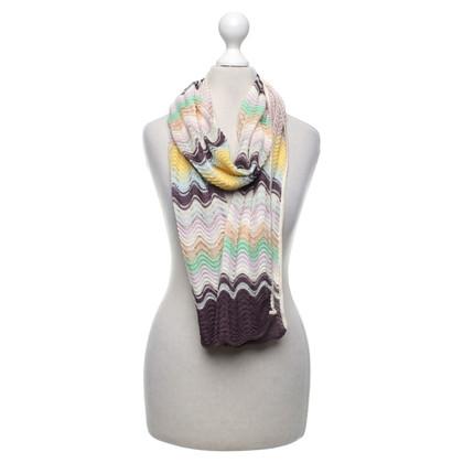 Missoni Foulard en tricot multicolore