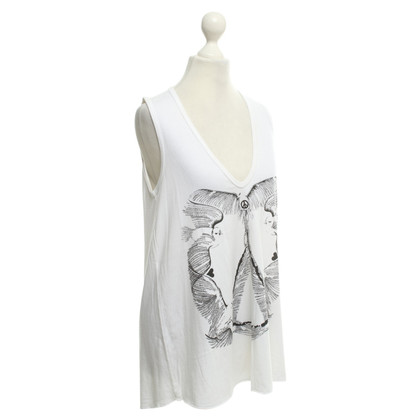 Lauren Moshi Top in White / zwart