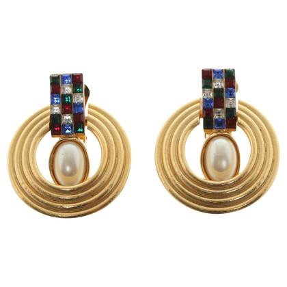 Balenciaga orecchini clip con pietre preziose