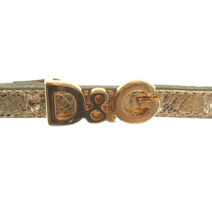 D&G Belt with logo buckle