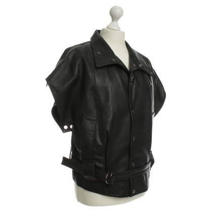 Other Designer Ström - leather vest in black