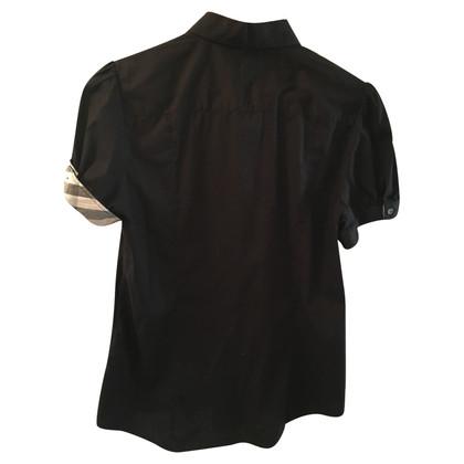 Burberry black short sleeve blouse