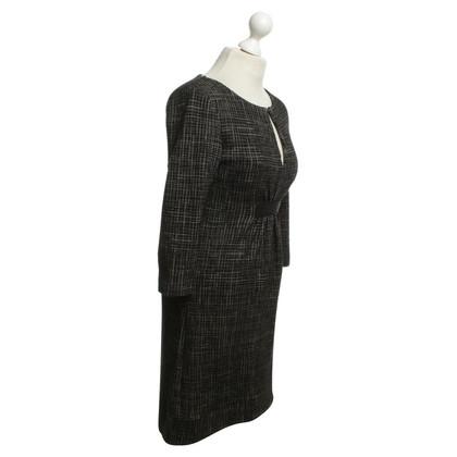 Patrizia Pepe Kariertes Kleid in Schwarz/Weiß