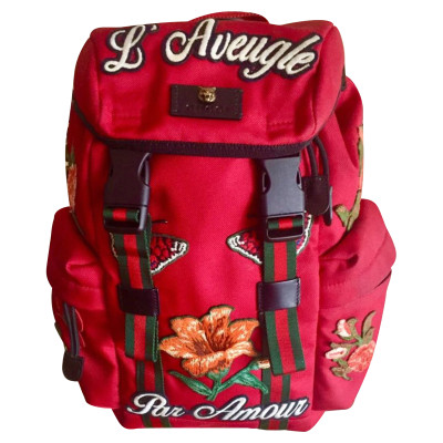 8261ef500c6 Gucci Backpack Canvas in Red. Gucci. Backpack Canvas in Red. onesize