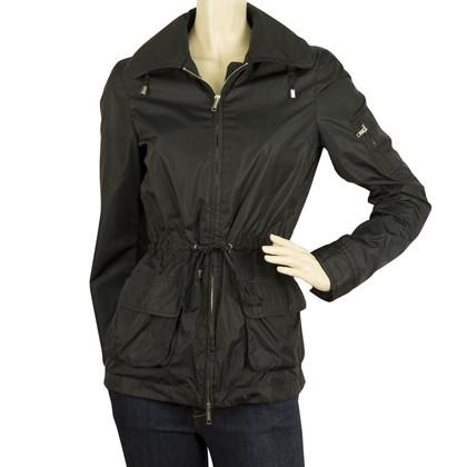 Burberry giacca antipioggia in nero