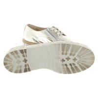 AGL Chaussures à lacets de couleur argentée