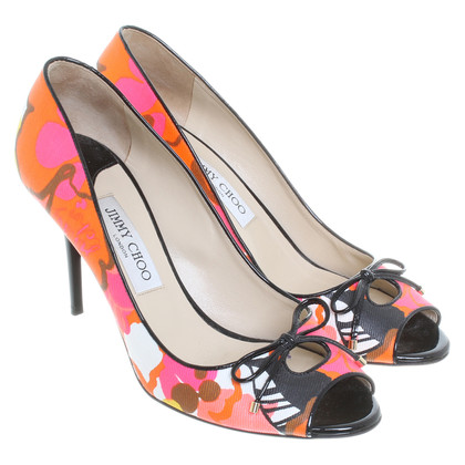 Jimmy Choo Peep-toes with floral print