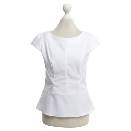Hugo Boss white blouse, zipper, size 36