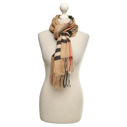 Burberry Plaid kasjmier sjaal in beige