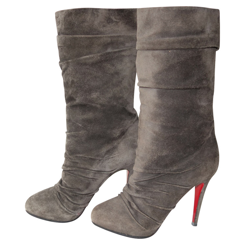 Christian Louboutin Boots Suede in Grey