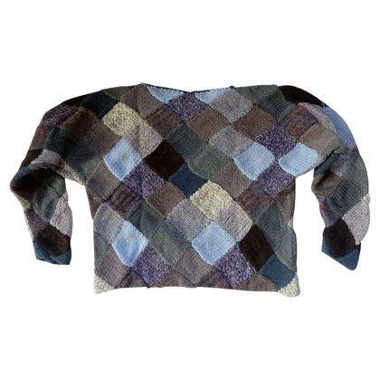 Issey Miyake Maglia in lana patchwork