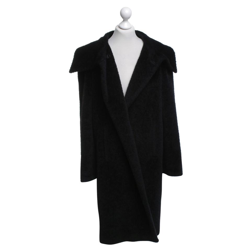 max mara langer mantel in schwarz second hand max mara. Black Bedroom Furniture Sets. Home Design Ideas