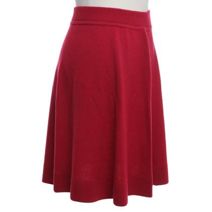 Iris von Arnim Cashmere rok in het rood