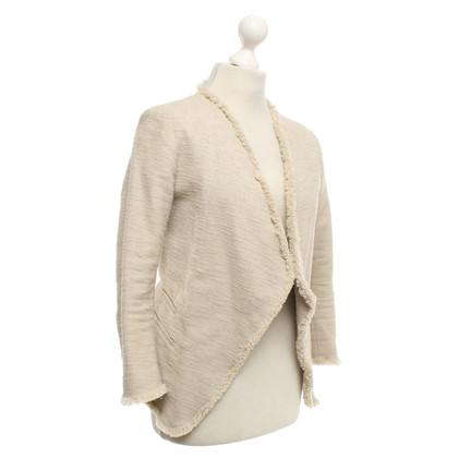 René Lezard Bouclé blazer in beige