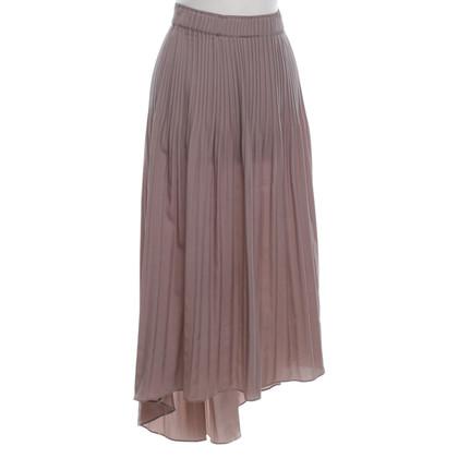 René Lezard Pleated skirt in Taupe
