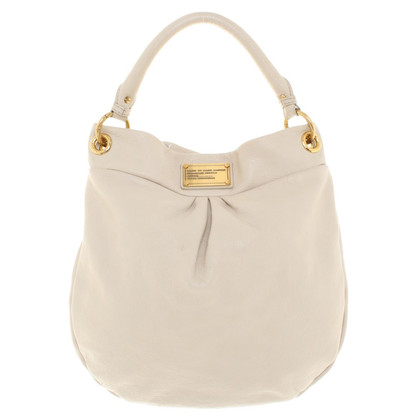 Marc by Marc Jacobs Lederen handtas in crème