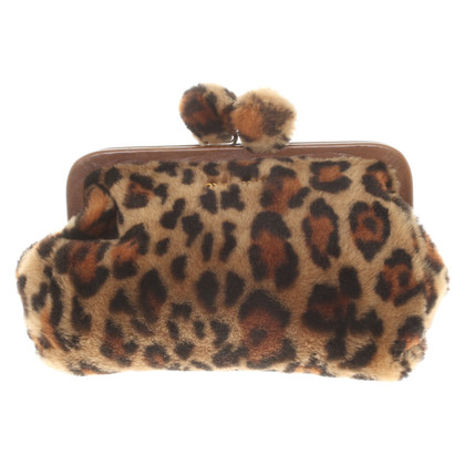 Miu Miu clutch in dierenlook