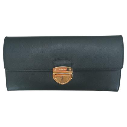 Prada Wallet in dark green