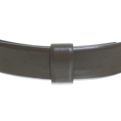 Max Mara Leather belt in olive