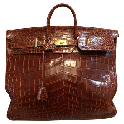 "Hermès ""HAC Birkin Bag"" made of crocodile leather"