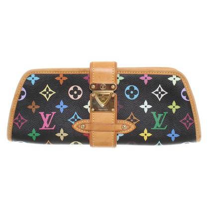 Louis Vuitton Clutch aus Monogram Multicolore Noir