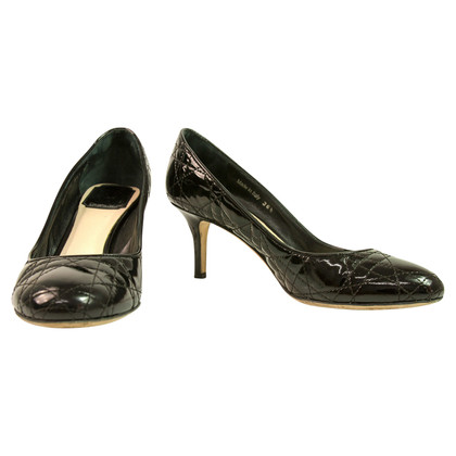 Christian Dior pumps in pelle nera verniciata