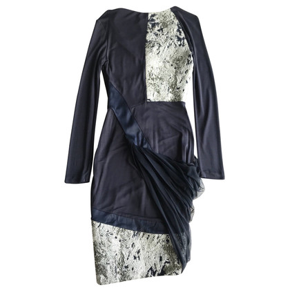 Prabal Gurung Navy party dress with marble effect