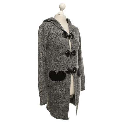 Twin-Set Simona Barbieri Knitted coat with heart pattern
