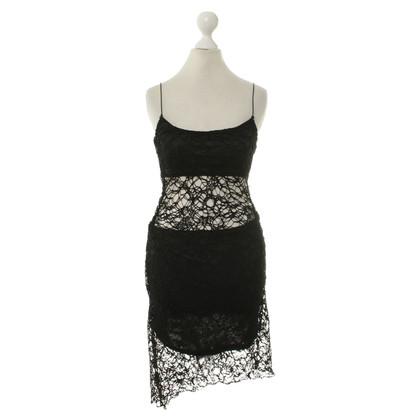 Gestuz Kant jurk in zwart