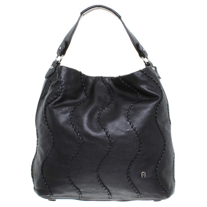 Aigner Borsa shopping in pelle nero