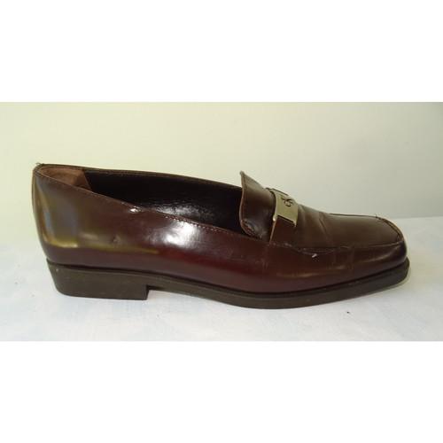 Calvin Klein SlippersBallerinas Leather in Brown Second