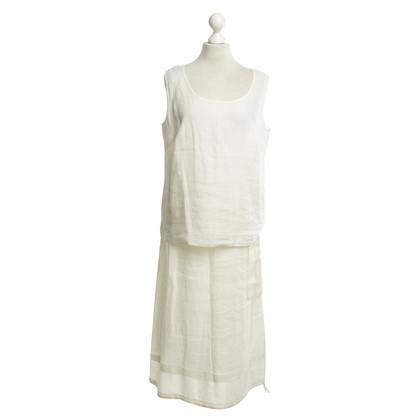 Marina Rinaldi Tweedelig jurkje in het wit
