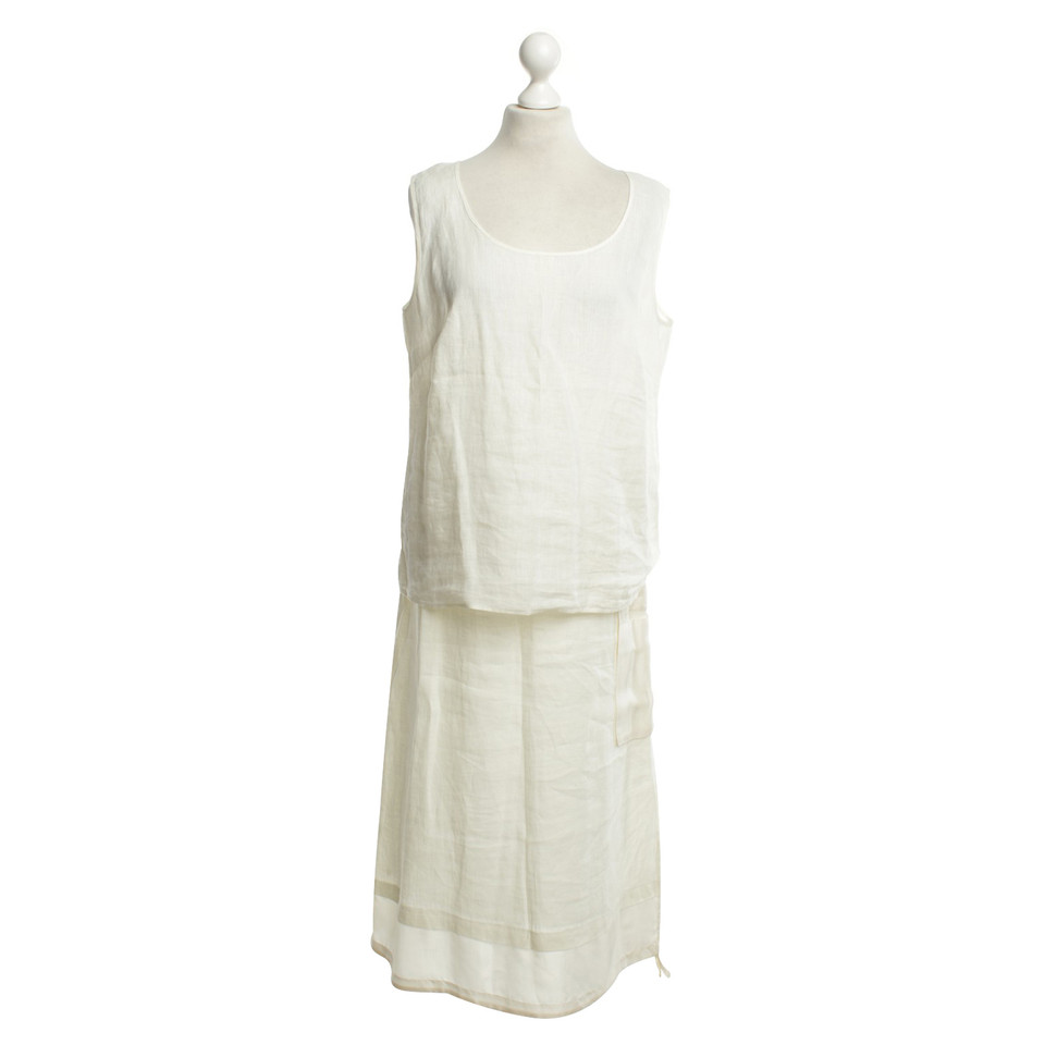 Marina Rinaldi deux pièces robe en blanc