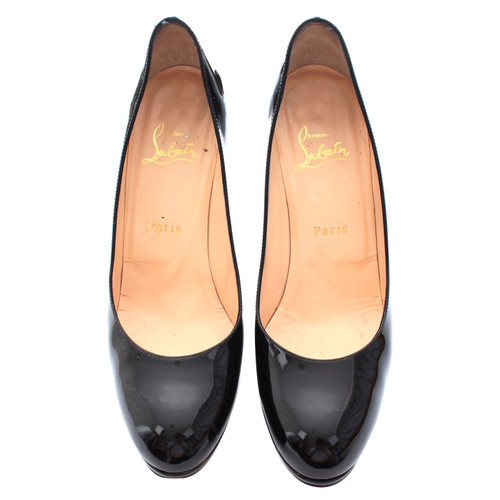 newest 3f2c3 b0c64 Christian Louboutin Pumps/Peeptoes Leather in Black - Second ...